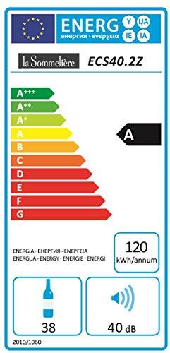 La Sommeliére ECS40.2Z Weinkühlschrank Test Energieeffizienz