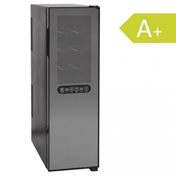 Attraktiv Amstyle Weinkühlschrank SlimLine 2 Temperaturzonen Klima Zonen Schwarz 45  Liter 16 Flachen Getränkekühlschrank 8