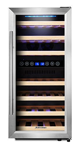 Kalamera KRC-33BSS Design Weinkühlschrank Test Innenraum