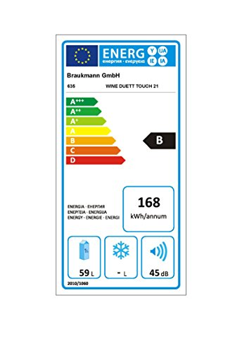 Caso WineDuett Touch 21 Weinkühlschrank Test Energieverbrauch