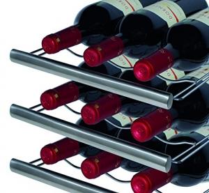 Caso WineDuett Touch 21 Weinkühlschrank Test Flaschen
