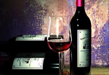 CASO WineDuett Touch 21 Design Weinkühlschrank für bis zu 21 Flaschen (bis zu 310 mm Höhe), zwei Temperaturzonen 7-18°C -